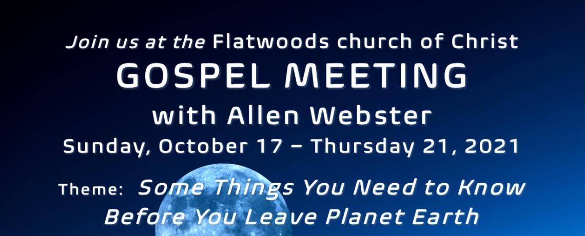 Live Stream: Gospel Meeting with Allen Webster